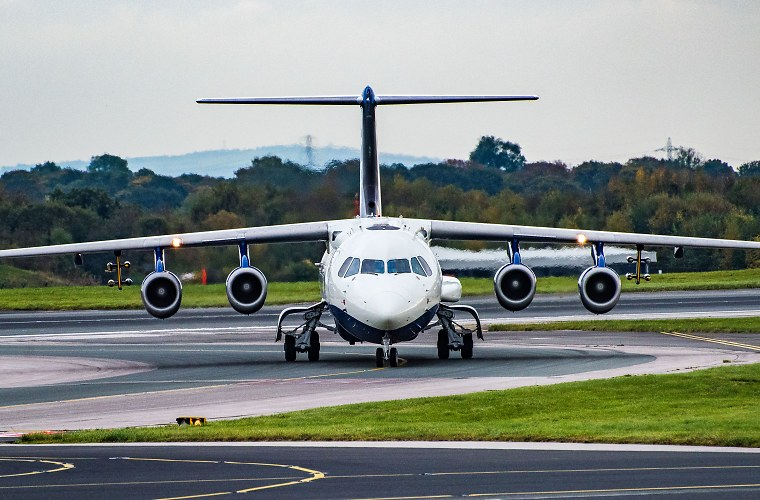 NERC's research aircraft taxiing
